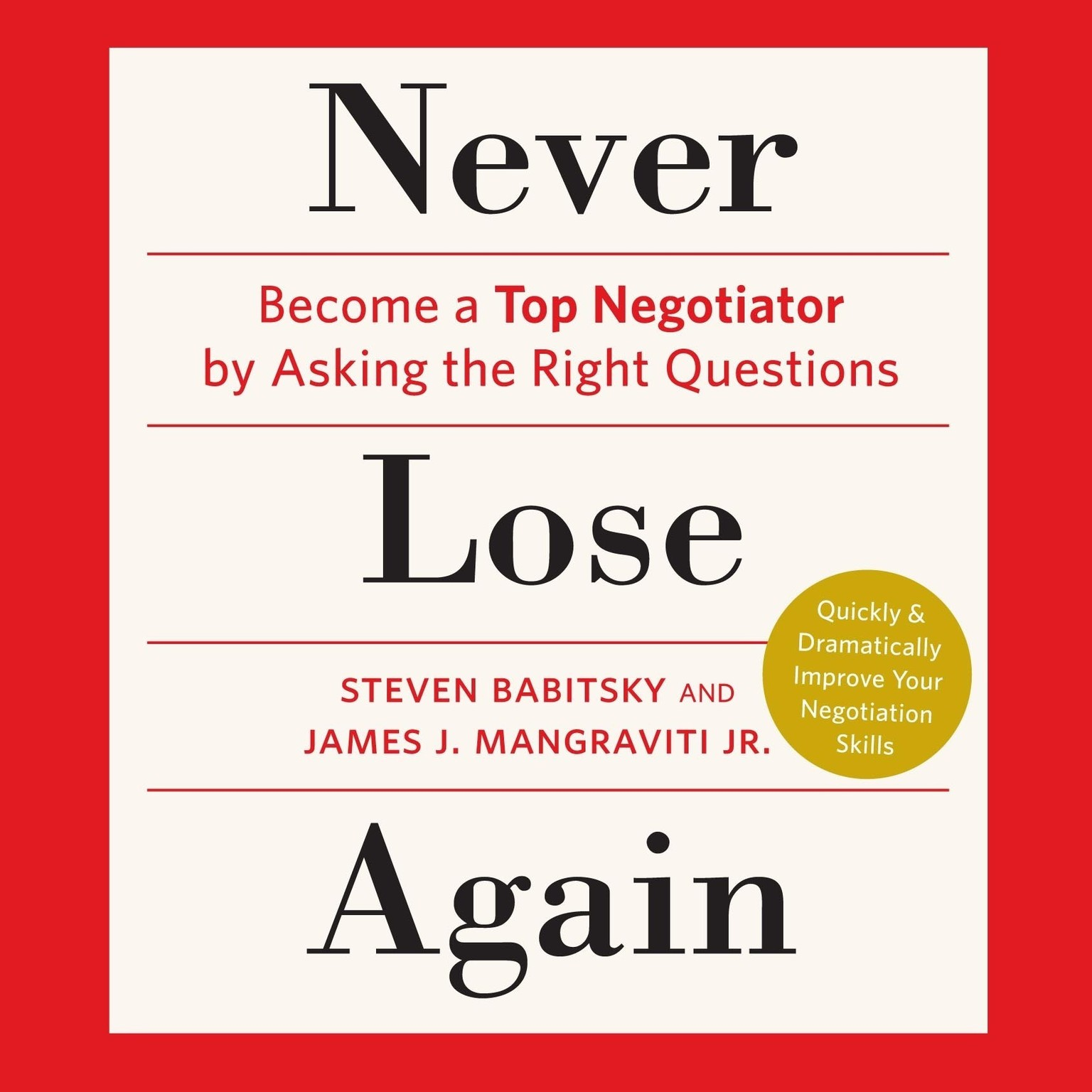 Never Lose Again  Audiobook  Listen Instantly