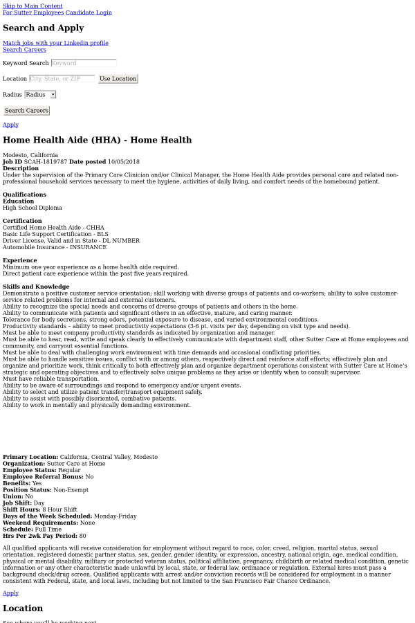 Home Health Aide License Verification California