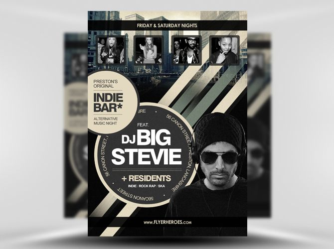 Free Indie Bar Flyer Template  Theflyermarket