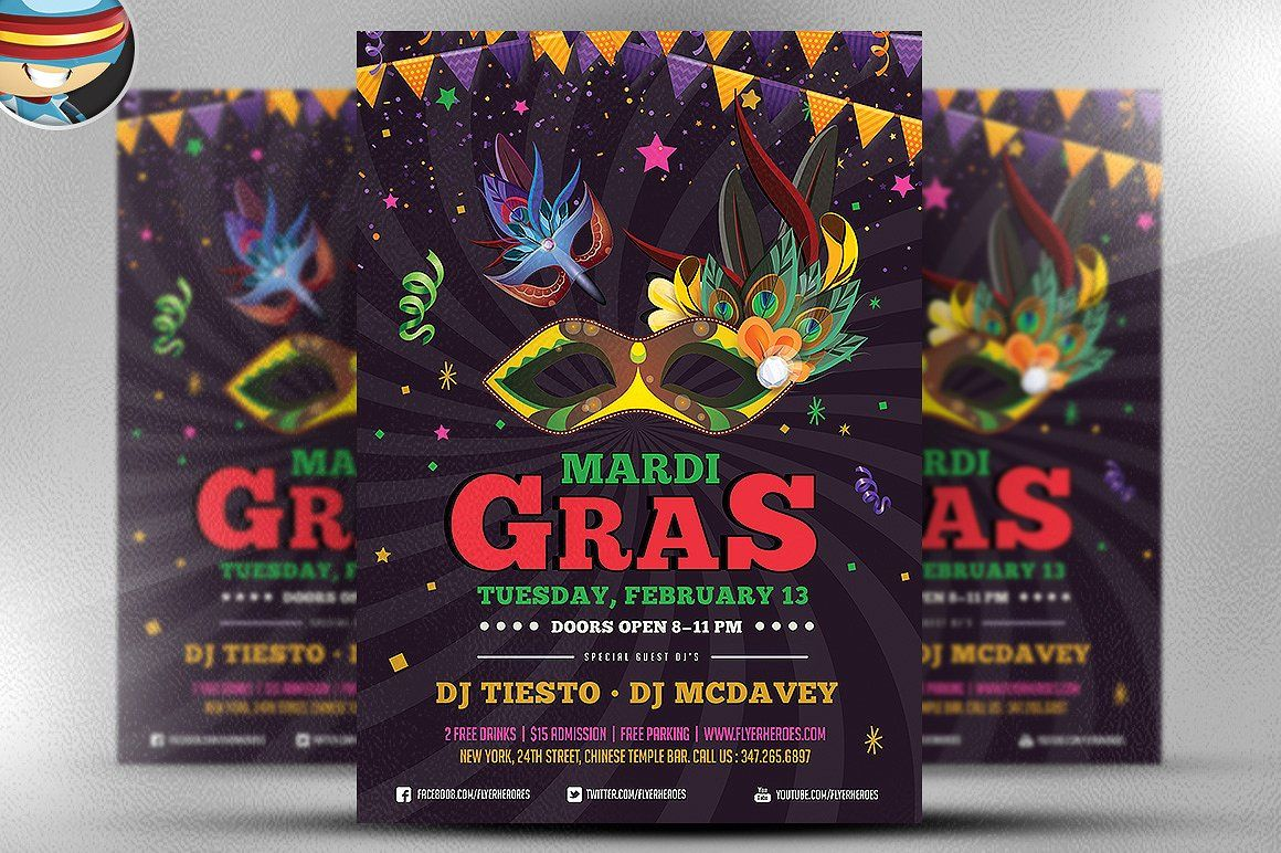 Mardi gras flyer template v3 theflyermarket saigontimesfo