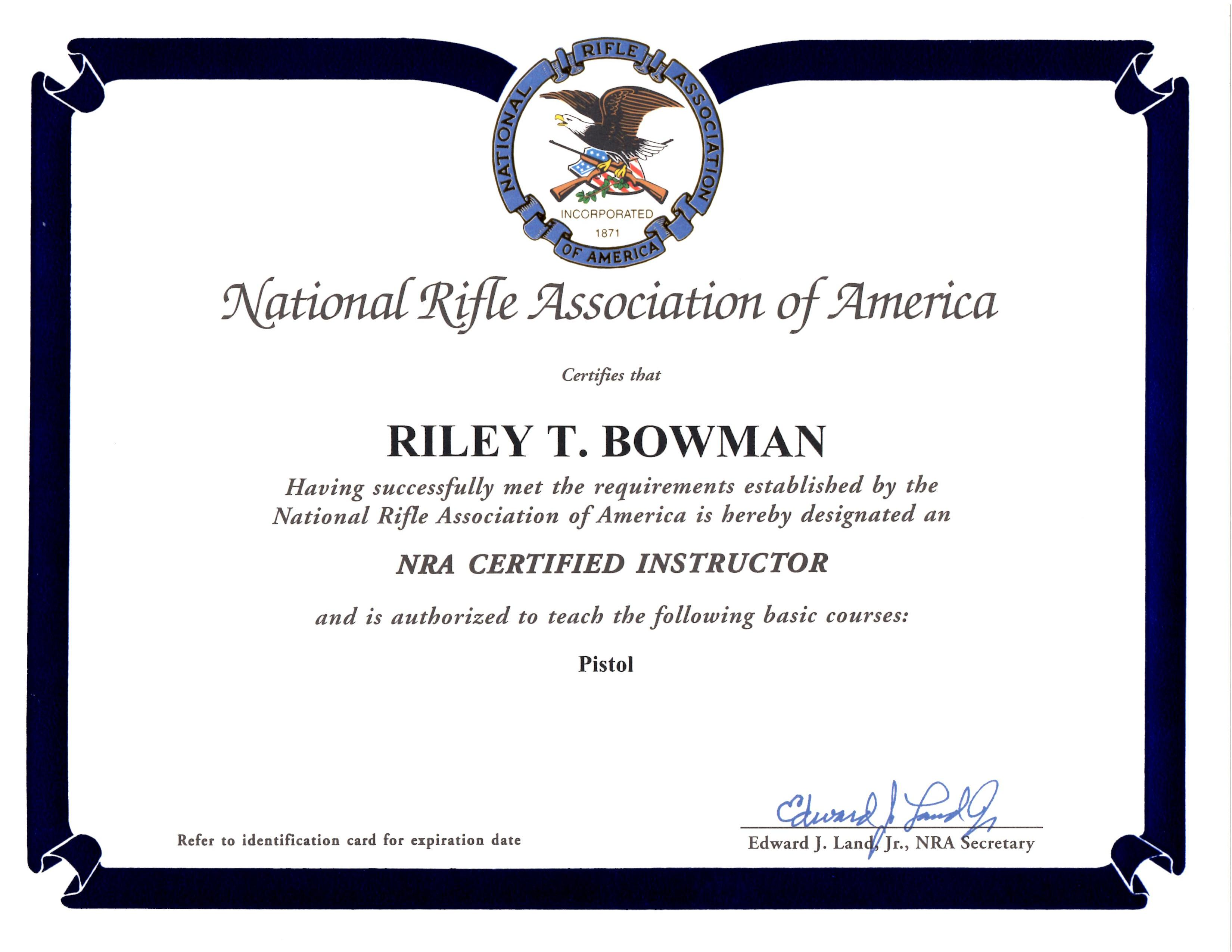 Concealed Carry Certificate Template