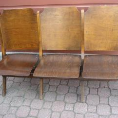 Wooden Church Choir Chairs Medicare Lift Vintage 3 Seat Folding Chairs,theater Seats Central Ottawa (inside Greenbelt ...
