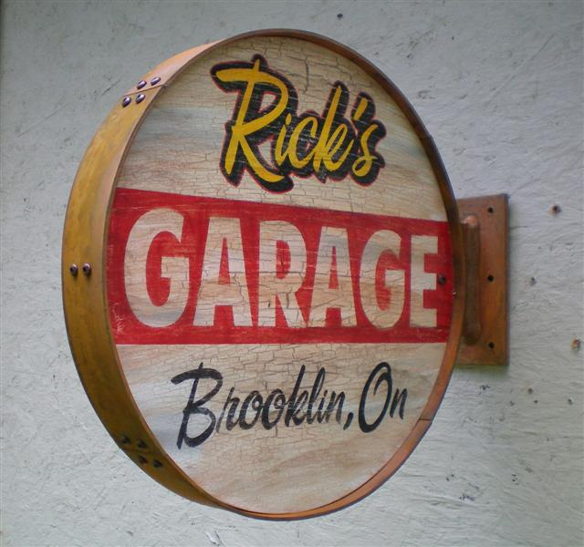 Personalized Vintage & Retro Style Garage Signs Outside