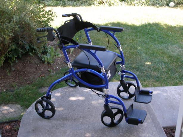 walker chair combo square leg caps hugo navigator combination 2 in 1 rollator and transport kelowna, okanagan
