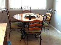 FREE: Wrought Iron kitchen dining table and four chairs ...