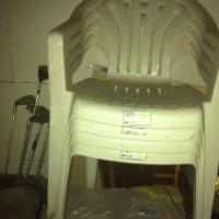 white plastic chairs Saanich, Victoria