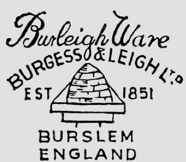 delightful vintage BURGESS & LEIGH English cottage vase
