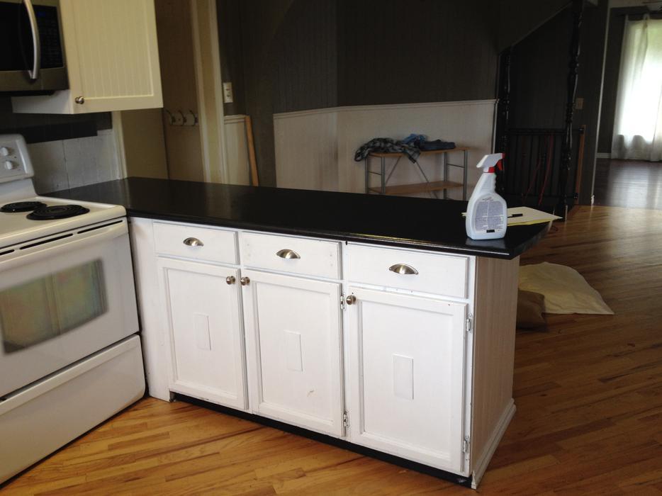 White Kitchen Lower Cabinets Saanich Victoria