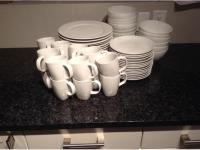 Ikea white 365 dinnerware - 15 full place settings + extra ...