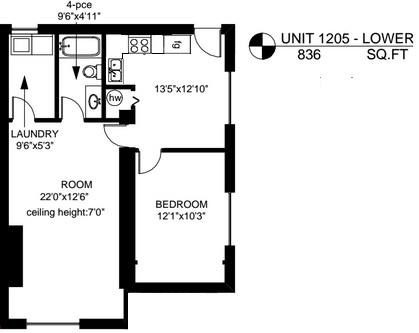 large windows- lower level (Bay + Cook) Victoria City