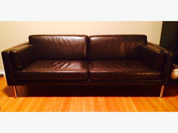 ikea sater sofa uk what colour walls go with purple leather awesome brown couch bonded saanich victoria