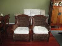 Two Pier One King Wicker Chairs Orleans, Ottawa - MOBILE