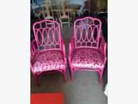 2 funky hot pink chairs Victoria City, Victoria