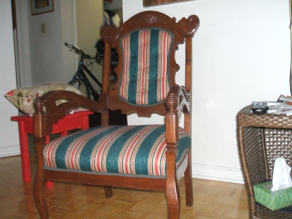 100 year old Antique Chair Central Ottawa (inside