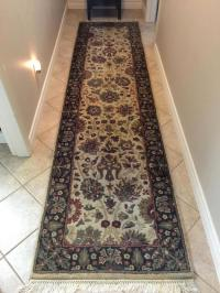 Wool rug AND matching runner from Jordan's. 9 X 12. Hand ...