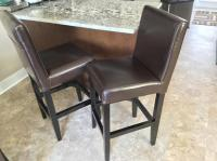 Leather counter height parson' chairs West Shore: Langford