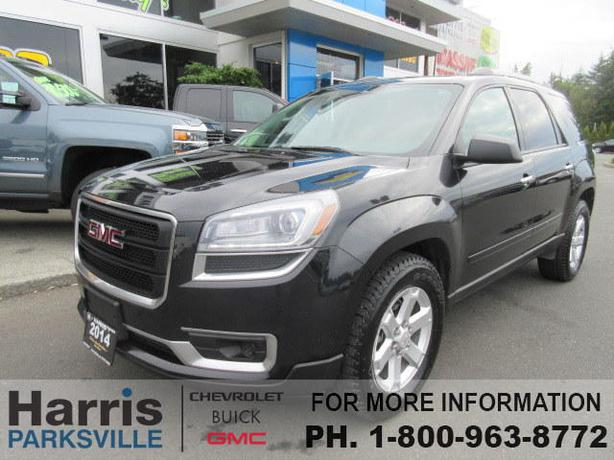 2017 gmc acadia with captains chairs trampoline chair walmart 2014 awd outside nanaimo, parksville qualicum beach - mobile