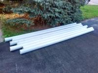 PVC 4 inches x 10 ft SOLID PIPE (x7) Kanata, Ottawa