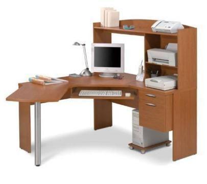 Bestar VShaped Corner Computer Workstation Desk Saanich