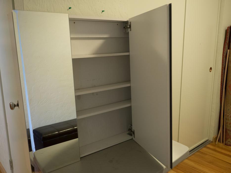 36 Inch Wide Bathroom Medicine Cabinet With Mirrors Oak