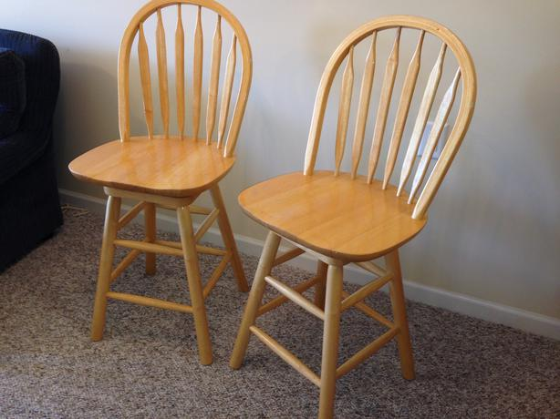 swivel chair victoria bc desk office bar stools - solid oak central saanich,