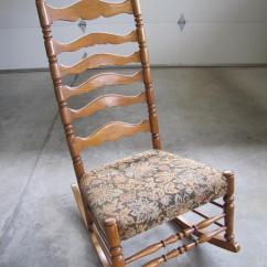 Rocking Nursing Chair Pine Kitchen Chairs Dublin Antique Oak Ladder Back Comox, Courtenay Comox