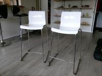 Two white IKEA Glenn bar stools Saanich, Victoria