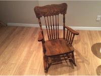 Antique press back rocking chair West Regina, Regina