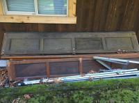 Double 9 foot garage doors cedar wood Cobble Hill, Cowichan