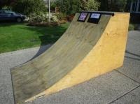 Ramp - Quarter Pipe Skateboard / Scooter / BMX Ramp Oak ...