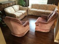 Living room sofa, love seat and 2 swivel chairs East ...