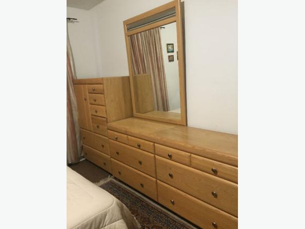 Palliser  queen  double  bedroom set with free mattress