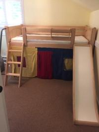 Loft Bed with slide and bookcase Oak Bay, Victoria - MOBILE