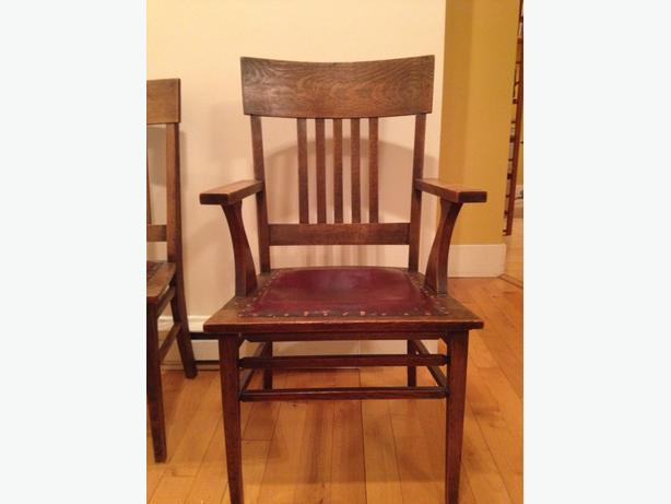 Very Old Beautiful Oak Dining Room Chairs Victoria City