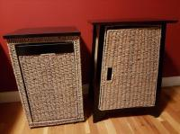 Side/end tables - wood and seagrass West Shore: Langford ...