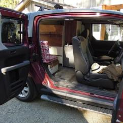 Car Seat Desk Chair Conversion Cover Ideas For Party Ultimate Honda Element Van Camping Outside Comox Valley, Valley
