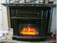 New electric fireplace with real looking flames Sooke ...