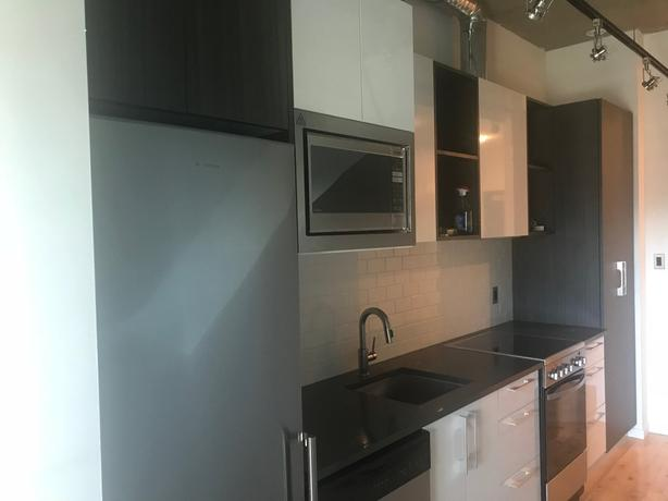 kitchen utilities pull out drawers beautiful one bedroom unit new and internet included