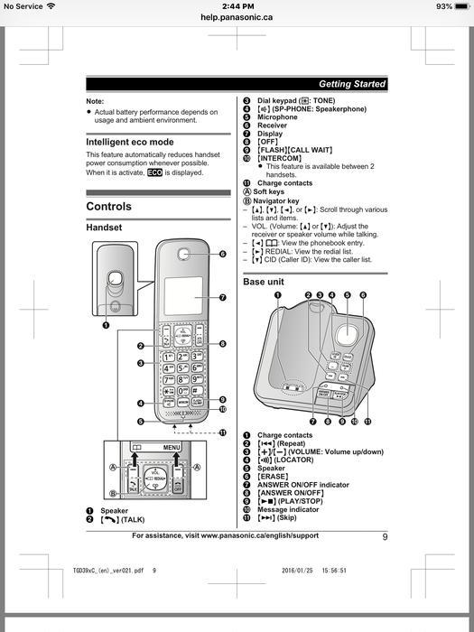 Panasonic cordless phone system, like new Port Alberni