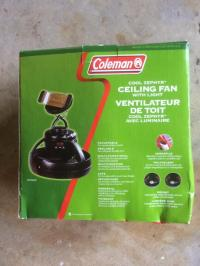 Coleman Tent Ceiling Fan With Light  Shelly Lighting
