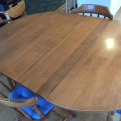 Maple Kitchen Table Home Depot Remodeling Solid And 6 Chairs New Price Needs To Go