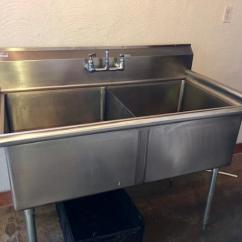 Commercial Kitchen Sink Chandeliers Home Depot Double Stainless Steel Almost New Victoria
