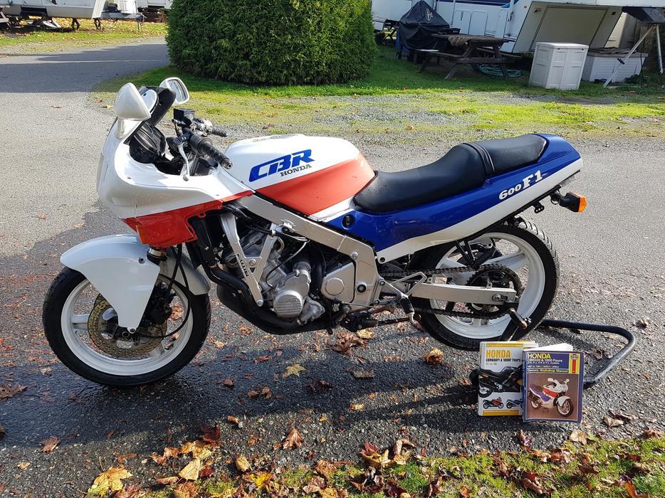 Honda 1989 CBR 600 F1 West Shore: Langford.Colwood.Metchosin.Highlands. Victoria