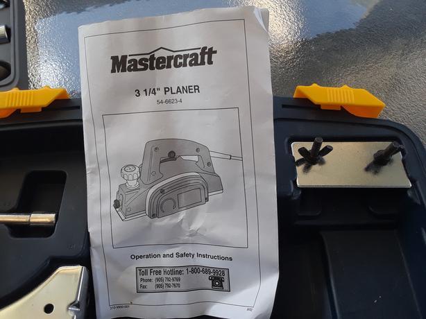 Mastercraft 3 1 4 Planer