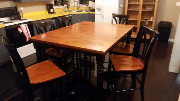 large kitchen table walls and 8 chairs outside victoria