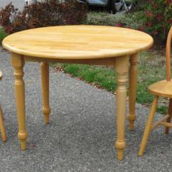 Maple Kitchen Table Cabinets At Home Depot Solid Set With Two Matching Chairs Saanich Victoria