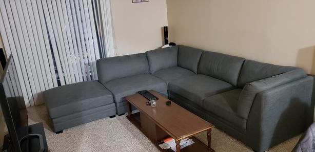 sectional sofa purchase brown microfiber with chaise outside south saskatchewan regina