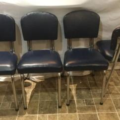 Chrome Kitchen Chairs Lowes Cabinets Reviews 4 Beautiful 1950 S Dark Blue West Shore