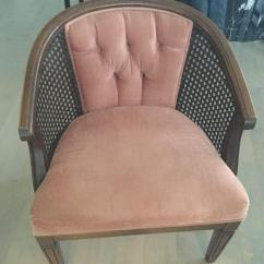 Mid Century Cane Barrel Chair Revolving Wooden Victoria City