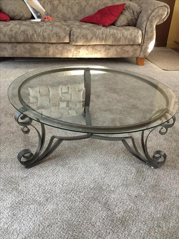 glass living room table side tables for india 4 piece steel amp set south regina